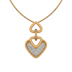 The Harmony Heart Gold Diamond Heart Pendant