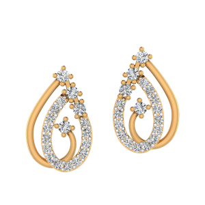 Paisley Desire Diamond Stud Earrings