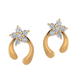 The Floral Art Diamond Stud Earrings