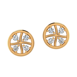 The Famous Four Diamond Stud Earrings