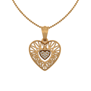 The Nitty Heart Gold Diamond Heart Pendant