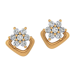The Organic Twist  Diamond Stud Earrings