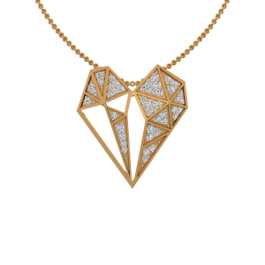 The Daring Heart Gold Diamond Heart Pendant