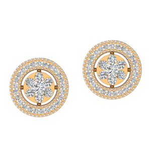 The Round Play Diamond Stud Earrings