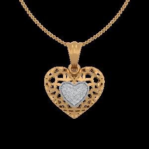 The Dream Heart Gold Diamond Heart Pendant