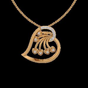 The Heart Festivity Gold Diamond Heart Pendant