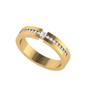 The Linear League Half Eternity Diamond Ring