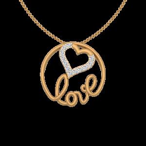 Heart Soiree Gold Diamond Heart Pendant
