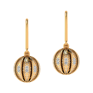 Dangle Divine Diamond Dangle Earrings