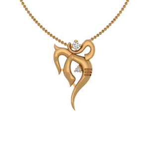 The Lucky Ganesha Gold Diamond Pendant