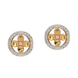 Floral Vibes Diamond Stud Earrings