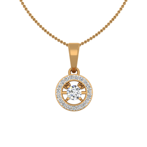 Solely Solitaire Gold Diamond Solitaire Pendant