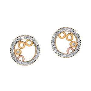Tango Round Diamond Stud Earrings