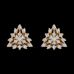 Trio Glow Diamond Stud Earrings