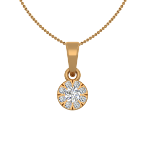 The Star Solitaire Gold Diamond Pendant