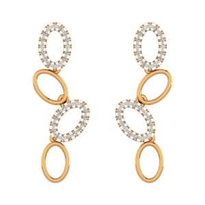 Loopy Loops Diamond Long Earrings