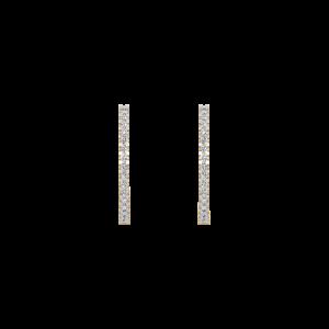 The Sleek Hoop Diamond Earrings
