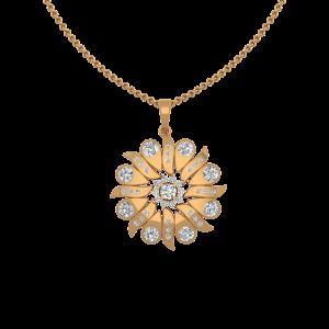 The Free Swing Gold Diamond Pendant