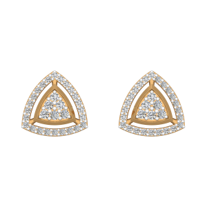 Eyes Halo Diamond Stud Earrings
