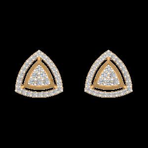 Eyes Halo Diamond Stud Earrings