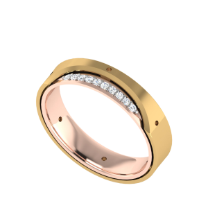 Seasoned With Love Couple Band Diamond Ring
