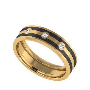 One Of The Necessities Couple Band Diamond Ring