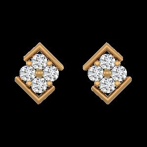 Perfect Frame Diamond Stud Earrings