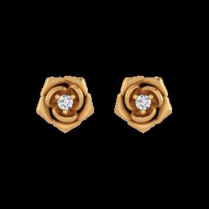 Rose Allure Diamond Floral Earrings