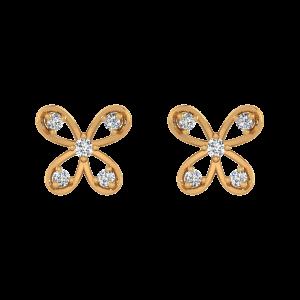Trippy Wings Diamond Stud Earrings