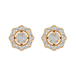Golden Find Diamond Stud Earrings