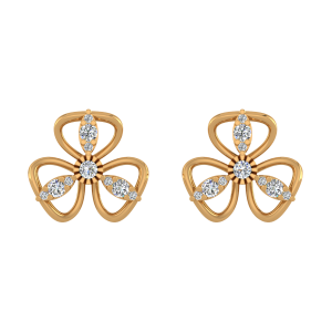 Casual Treat Diamond Stud Earrings