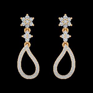 Disco Dance Diamond Stud Earrings