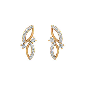 Sassy Curve Diamond Stud Earrings
