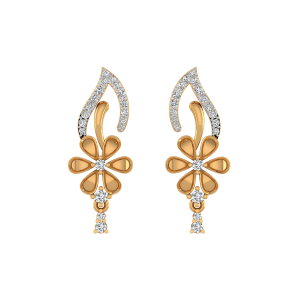 Floral Drama Diamond Stud Earrings