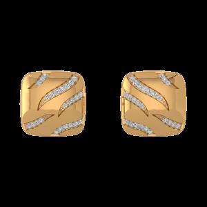 The Waves Diamond Stud Earrings