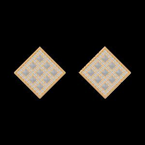 The Playfield Diamond Stud Earrings