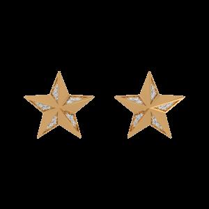 Sweet Star Diamond Stud Earrings