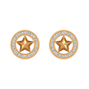 Starry Aura Diamond Stud Earrings