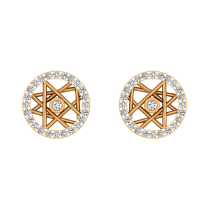 Art Captured Diamond Stud Earrings