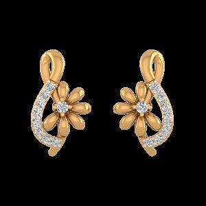 Floral Tunes Diamond Heart Earrings