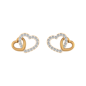 Sun Light Diamond Stud Earrings