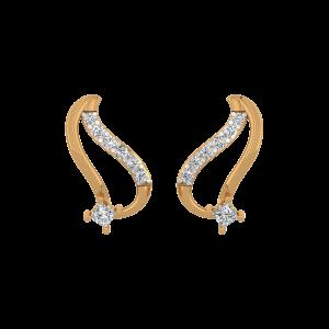 Love Birds Diamond Stud Earrings