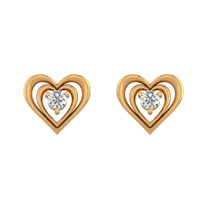 Lush N Blush Diamond Stud Earrings