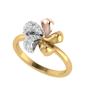 The Shades Of Life Floral Diamond Ring
