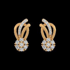 Paradise Treat Diamond Stud Earrings