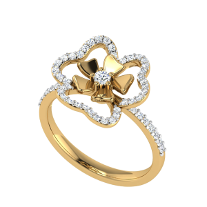 Allow Yourself Floral Diamond Ring