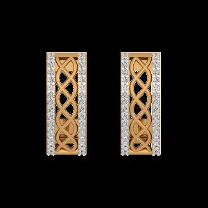 Royal Touch Diamond Hoop Earrings