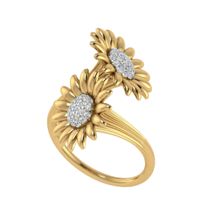The Bright Side Of Life Floral Diamond Ring