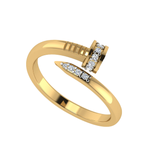 The Spiral Nail Designer Diamond Ring