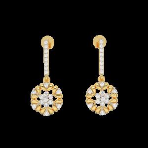 Fleur Spirit Diamond Drop Earrings